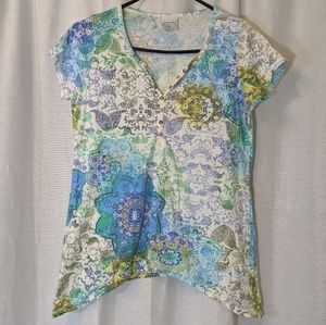 3 For $15 Paisley Henna Pattern Tee Size Small